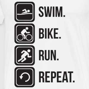 Swim. Bike. Run. Repeat. T-Shirts - Men's Premium T-Shirt