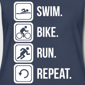 Swim. Bike. Run. Repeat. T-Shirts - Women's Premium T-Shirt