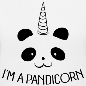 I'm a Pandicorn T-Shirts - Women's V-Neck T-Shirt