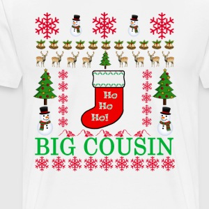 big_cousin_ugly_christmas_sweater_ - Men's Premium T-Shirt