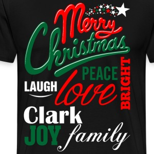 Merry Christmas Laugh Peace Love Bright Joy Clark  T-Shirts - Men's Premium T-Shirt