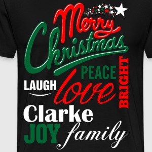 Merry Christmas Laugh Peace Love Bright Joy Clarke T-Shirts - Men's Premium T-Shirt