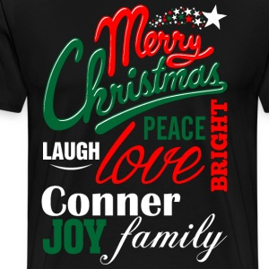Merry Christmas Laugh Peace Love Bright Joy Colon  T-Shirts - Men's Premium T-Shirt