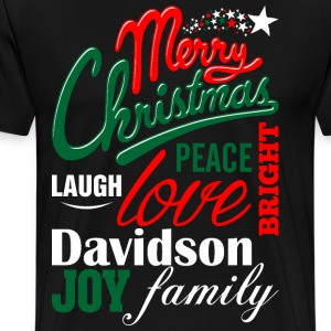 Merry Christmas Laugh Peace Love Bright Joy Davids T-Shirts - Men's Premium T-Shirt