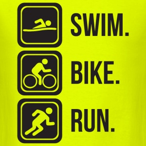 Triathlon - Swim. Bike. Run. T-Shirts - Men's T-Shirt