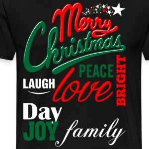 Merry Christmas Laugh Peace Love Bright Joy Day Fa T-Shirts - Men's Premium T-Shirt
