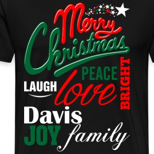 Merry Christmas Laugh Peace Love Bright Joy Davis  T-Shirts - Men's Premium T-Shirt