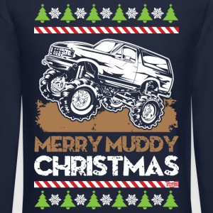 Mud Truck Ugly Christmas Long Sleeve Shirts - Crewneck Sweatshirt