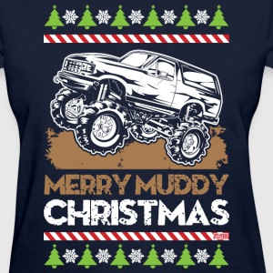 Mud Truck Ugly Christmas T-Shirts - Women's T-Shirt