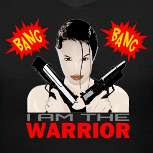 Bang Bang The Warrior T-Shirts - Women's V-Neck T-Shirt