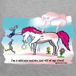 Angry unicorn - delicate unicorn T-Shirts - Women´s Roll Cuff T-Shirt