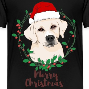 labrador dog merry christmas - Kids' Premium T-Shirt
