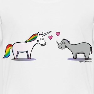 Unicorn and rhino in love Baby & Toddler Shirts - Toddler Premium T-Shirt