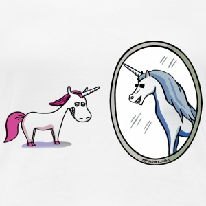 unicorn and mirror reflections T-Shirts - Women's Premium T-Shirt