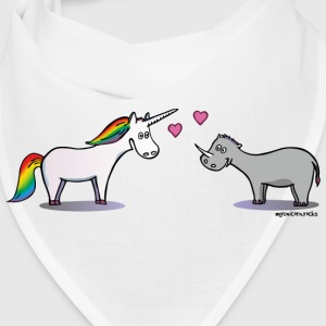 Unicorn and rhino in love Caps - Bandana