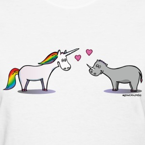 Unicorn and rhino in love T-Shirts - Women's T-Shirt