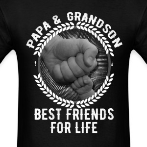 Papa And Son The Best Friends For Life T-Shirts - Men's T-Shirt