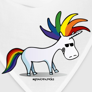 Punk unicorn - unicorn and rainbow Caps - Bandana