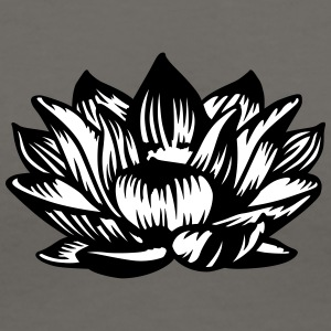Lotus flower 2 colors T-Shirts - Women's V-Neck T-Shirt