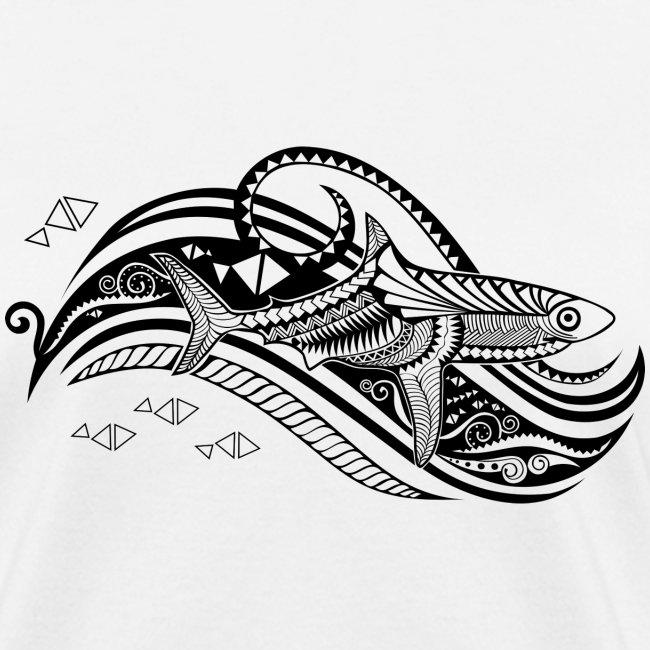 south seas tribal shark women s t shirt