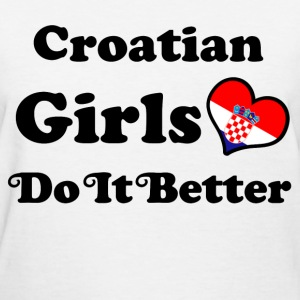 croatian girl 112.png T-Shirts - Women's T-Shirt
