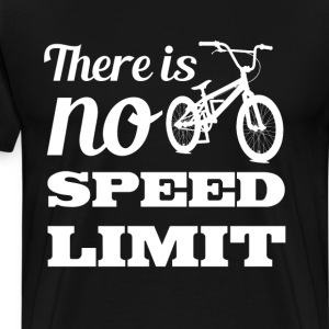 There is No Speed Limit Graphic Bicycle T-shirt T-Shirts - Men's Premium T-Shirt