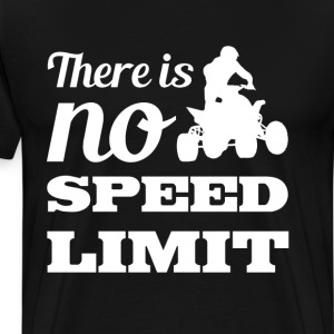There is No Speed Limit Graphic Quad T-shirt T-Shirts - Men's Premium T-Shirt