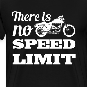 There is No Speed Limit Graphic Motorcycle T-shirt T-Shirts - Men's Premium T-Shirt