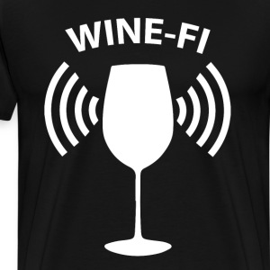Wine-Fi Wine Drinking Party Glass Funny T-Shirt T-Shirts - Men's Premium T-Shirt