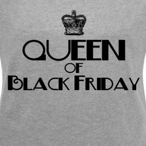 QUEEN OF BLACK FRIDAY T-Shirts - Women´s Rolled Sleeve Boxy T-Shirt