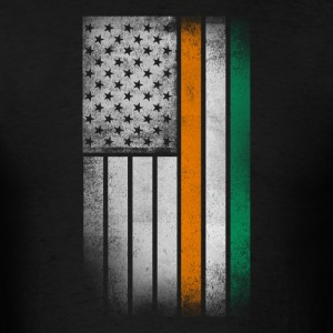 Irish American Flag - Half Irish Half American - Men's T-Shirt