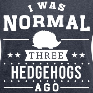 Three Hedgehogs Ago T-Shirts - Women´s Rolled Sleeve Boxy T-Shirt
