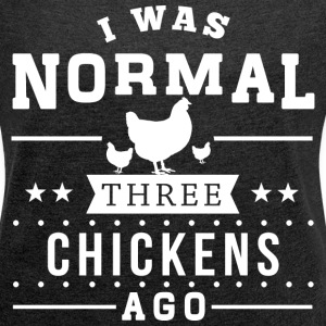 Three Chickens Ago T-Shirts - Women´s Rolled Sleeve Boxy T-Shirt