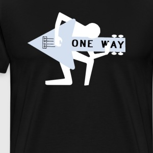 1 way music player - Men's Premium T-Shirt