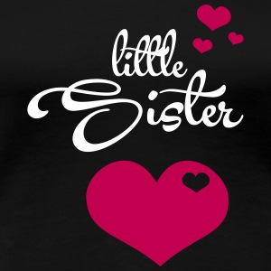 Little Sister with Cute Hearts T-shirts - T-shirt premium pour femmes