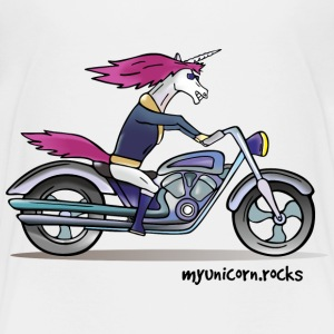 Badass unicorn on a motorcycle Baby & Toddler Shirts - Toddler Premium T-Shirt