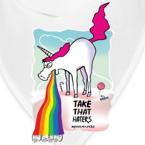 Unicorn vomiting rainbow Caps - Bandana