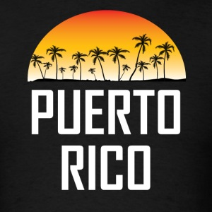 Puerto Rico Sunset And Palm Trees Beach Vacation - Men's T-Shirt