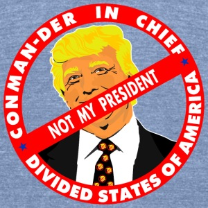 Trump CONmander in Chief T-Shirts - Unisex Tri-Blend T-Shirt by American Apparel