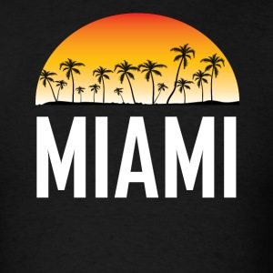 Miami Florida Sunset And Palm Trees Beach - Men's T-Shirt