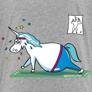 Unicorn doing sports, yoga unicorn Baby & Toddler Shirts - Toddler Premium T-Shirt