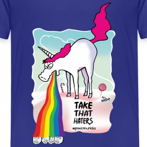 Unicorn vomiting rainbow Baby & Toddler Shirts - Toddler Premium T-Shirt