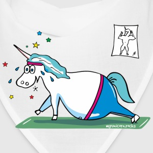 Unicorn doing sports, yoga unicorn Caps - Bandana