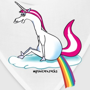 Unicorn pooping rainbow Caps - Bandana