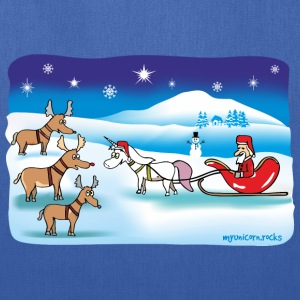 Christmas Unicorn - Reindeer and Santa Bags & backpacks - Tote Bag