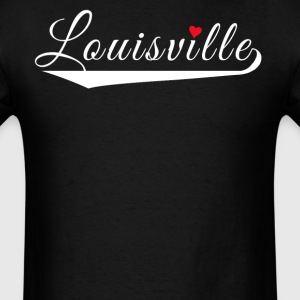 Louisville Love Fancy Heart City Logo - Men's T-Shirt