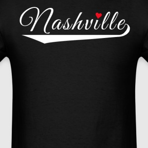 Nashville Love Fancy Heart City Logo - Men's T-Shirt