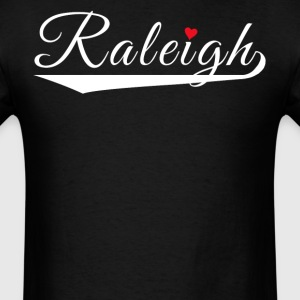 Raleigh Love Fancy Heart City Logo - Men's T-Shirt