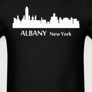 Albany New York Downtown Skyline Silhouette - Men's T-Shirt