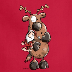 Cute Christmas Reindeer Aprons - Adjustable Apron